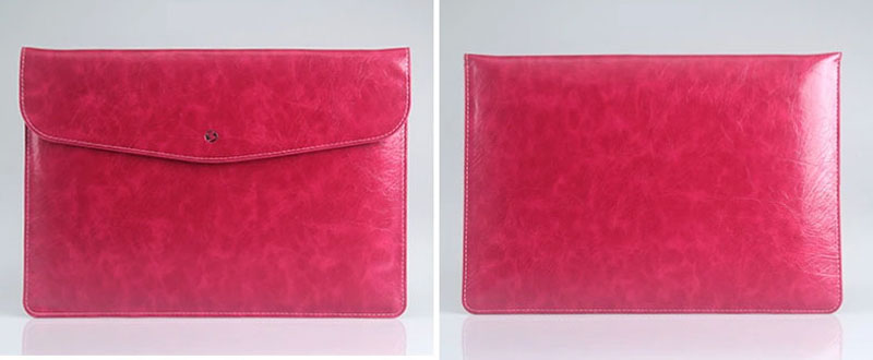 Cool Red Leather Bag Case For 12 Inch Macbook Pro Air 11 13 MB1202_13