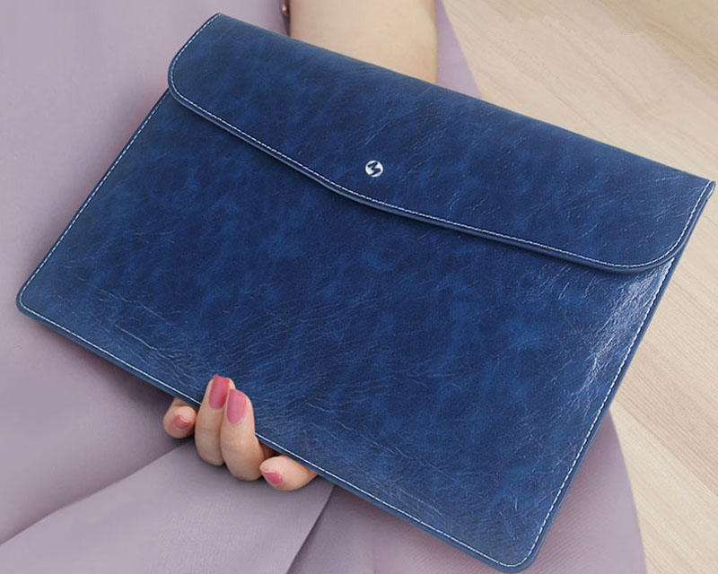 Cool Brown Pink Leather Bags Cases For 12 Inch Macbook MB1202_17