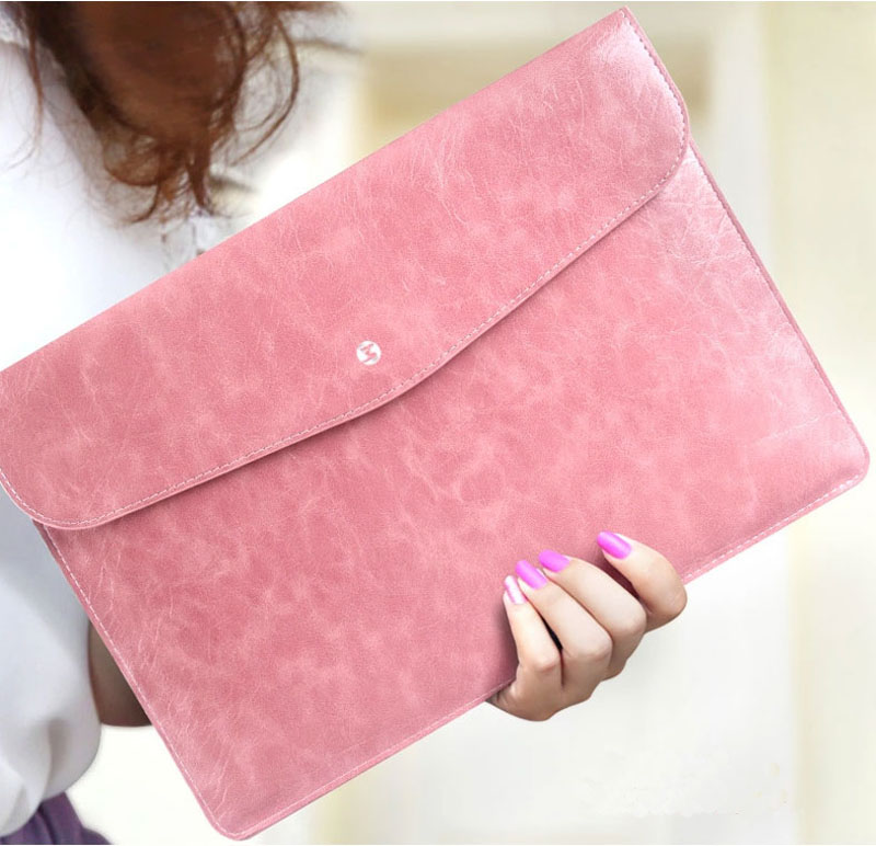 Cool Red Leather Bag Case For 12 Inch Macbook Pro Air 11 13 MB1202_8