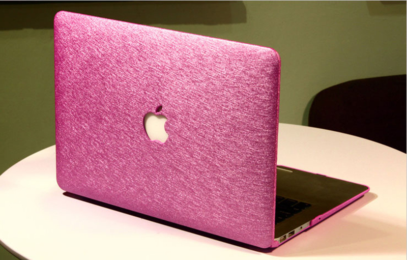 Silk Pattern Macbook Air Pro 11 12 13 15 Inch Protective Case Covers With Free Keyboard Skin_16