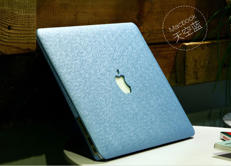 Silk Pattern Macbook Air Pro 11 12 13 15 Inch Protective Case Covers With Free Keyboard Skin_22