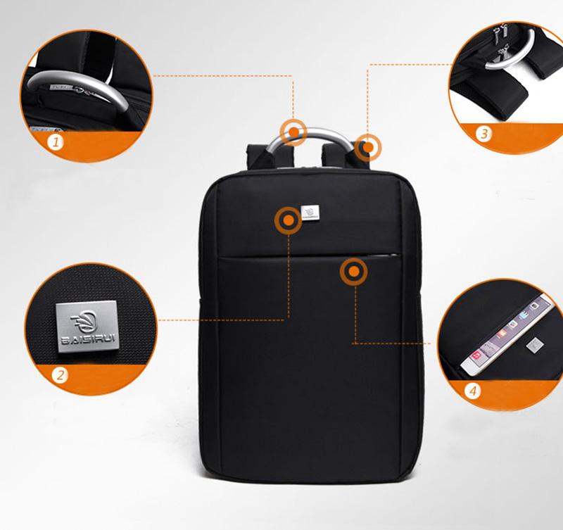 Minimalism Business Laptop Computer Square Backpack Leisure Bag MFB03_9