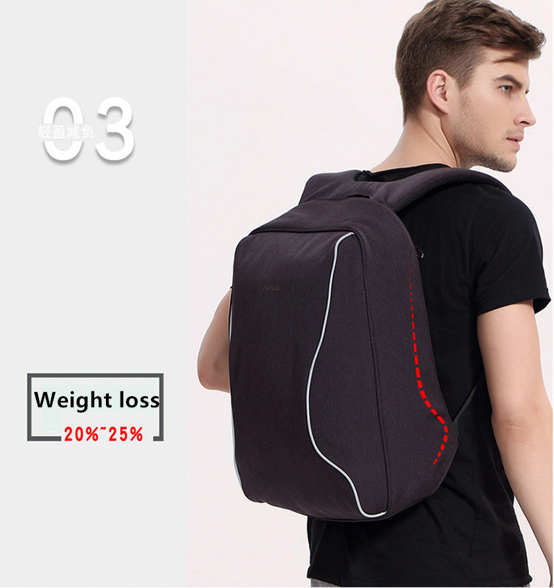 Anti Thief Business Leisure Shoulder Backpack Travel Bag MFB04_12