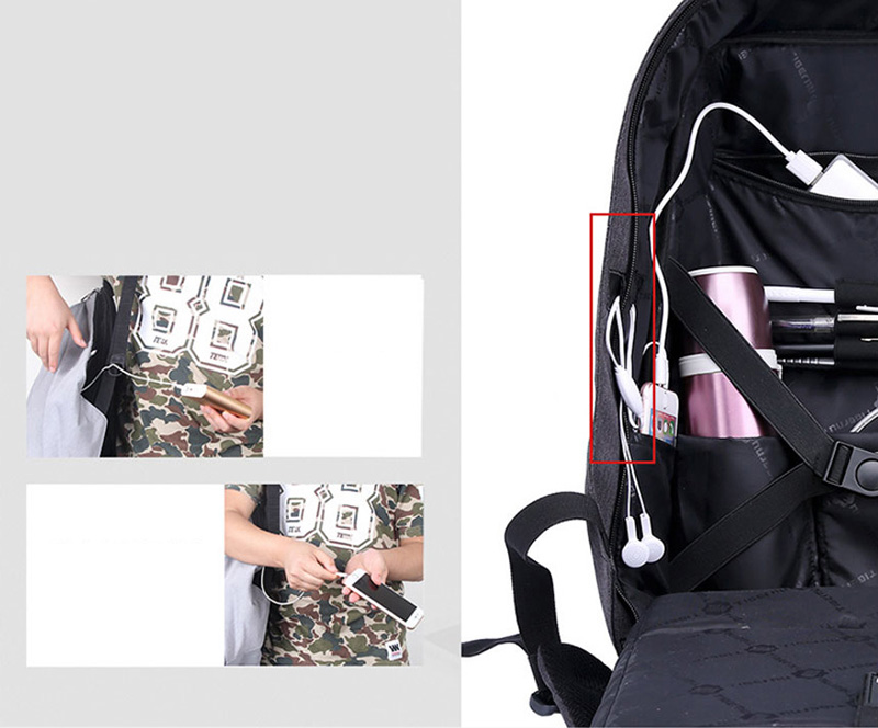 Anti Thief Business Leisure Shoulder Backpack Travel Bag MFB04_16
