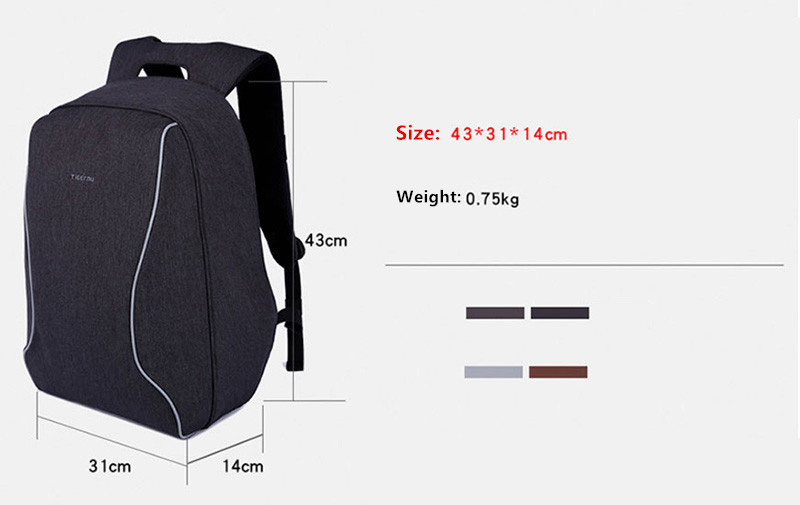 Anti Thief Business Leisure Shoulder Backpack Travel Bag MFB04_7