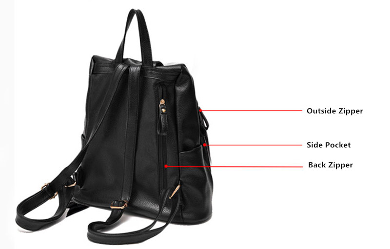 Multi-functional Anti Thief Backpack For Women MFB05_11