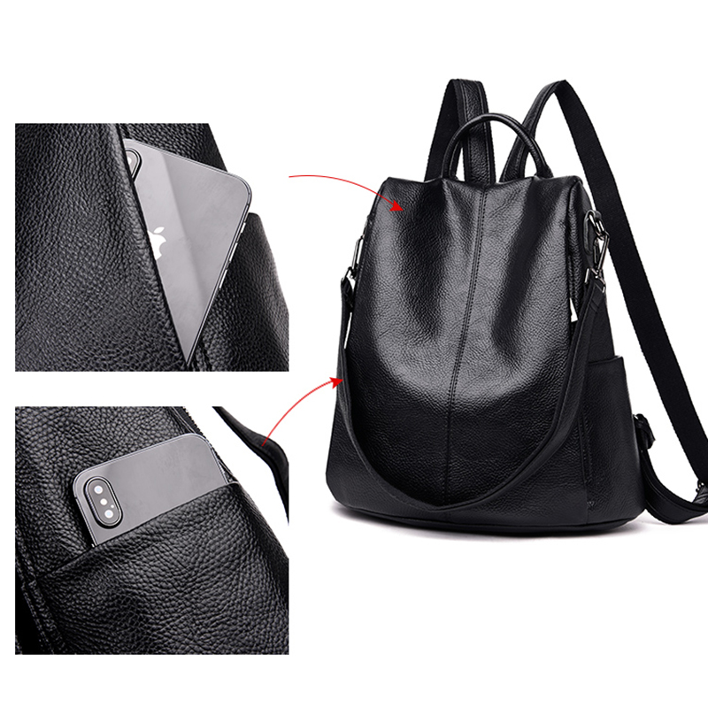 Multi-functional Anti Thief Backpack For Women MFB05_9
