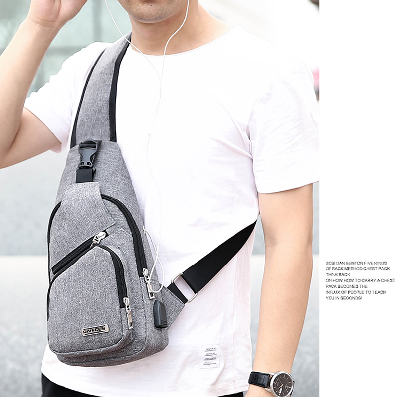 One Shoulder Leisure Messenger Backpack Chest Bag MFB06_11