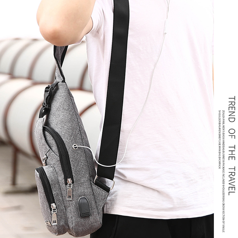 One Shoulder Leisure Messenger Backpack Chest Bag MFB06_12
