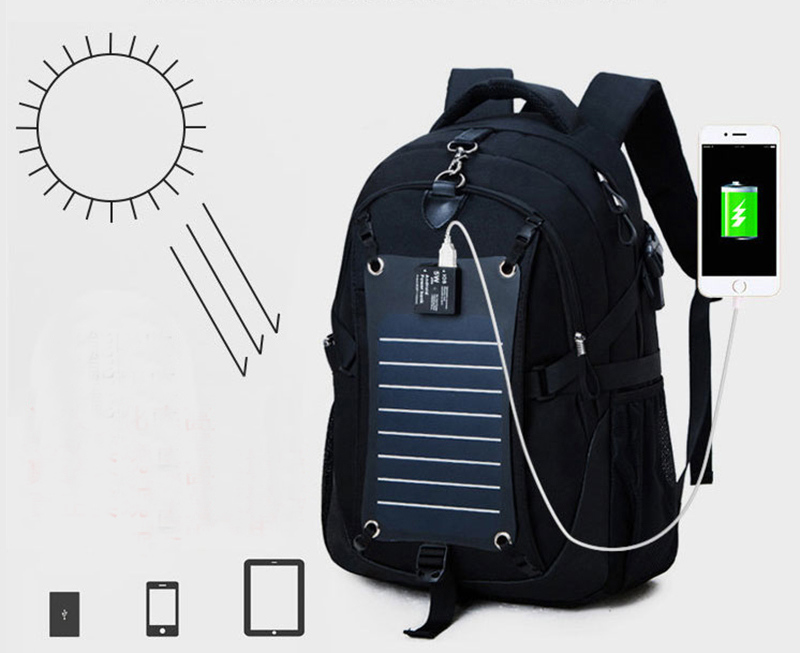 Solar Charge Backpack For Phone Business Travel Bag MFB08_9