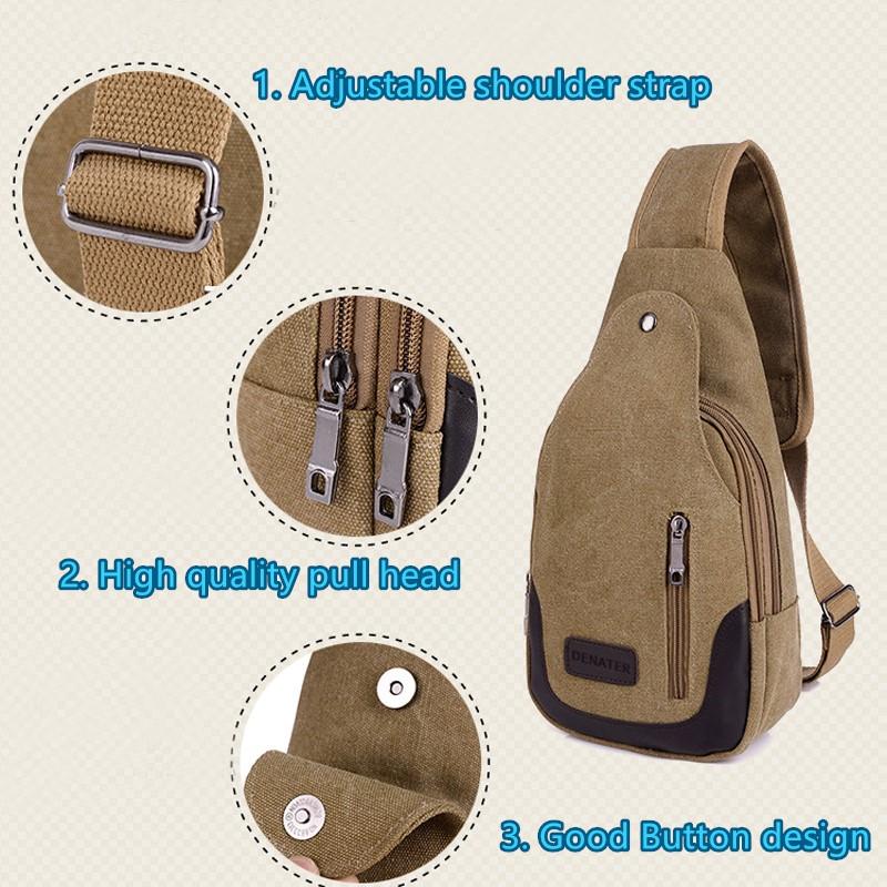 2017 New Chest Canvas Messenger Bag One Shoulder Bag MFB12_11