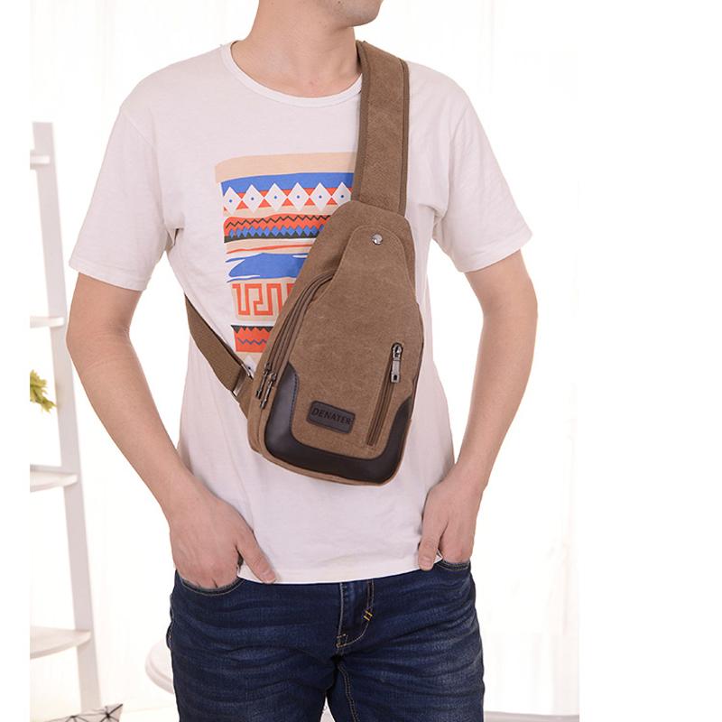 2017 New Chest Canvas Messenger Bag One Shoulder Bag MFB12_12