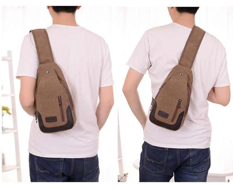 2017 New Chest Canvas Messenger Bag One Shoulder Bag MFB12_13