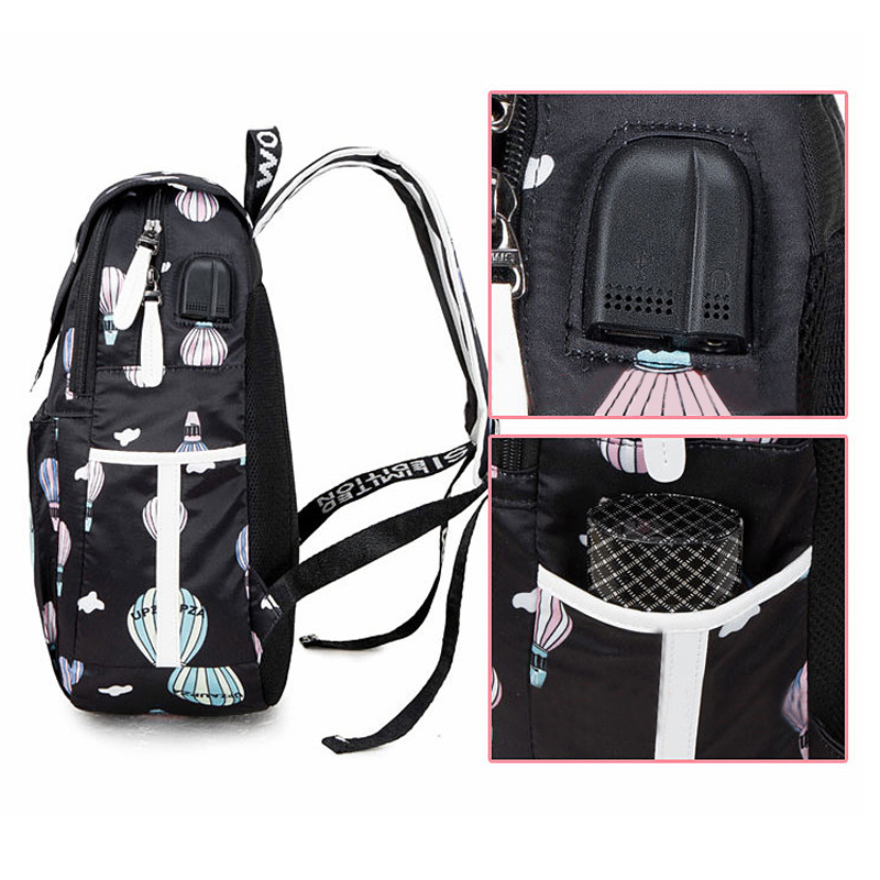 Fashion School Bag Backpack For Girl With Headset And Charging Interface MFB22_11