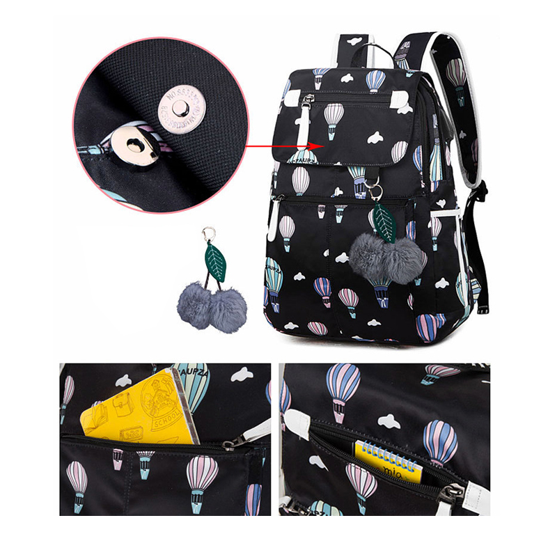Fashion School Bag Backpack For Girl With Headset And Charging Interface MFB22_9