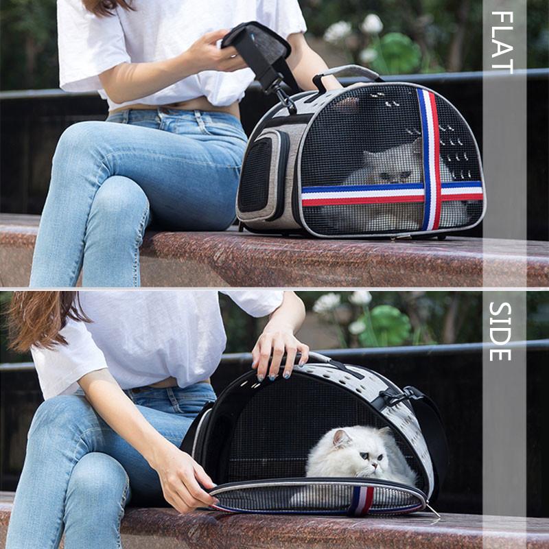 Large Side Window With Hole Pet Handbag MFB33_14