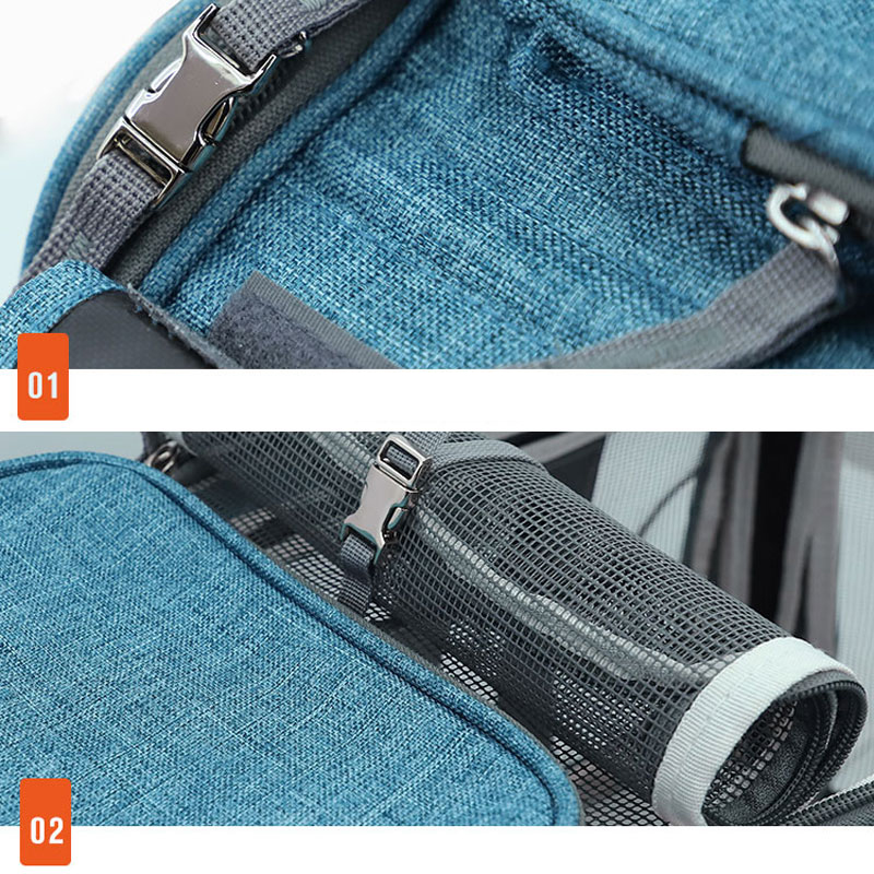 Perfect Pet Trolley Bag Rolling Carrier MFB38_12