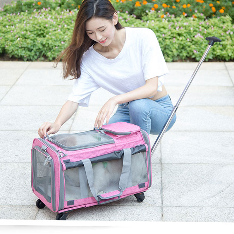 Perfect Pet Trolley Bag Rolling Carrier MFB38_14