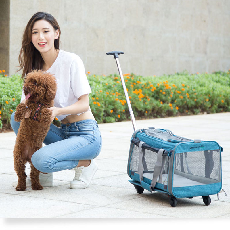 Perfect Pet Trolley Bag Rolling Carrier MFB38_15