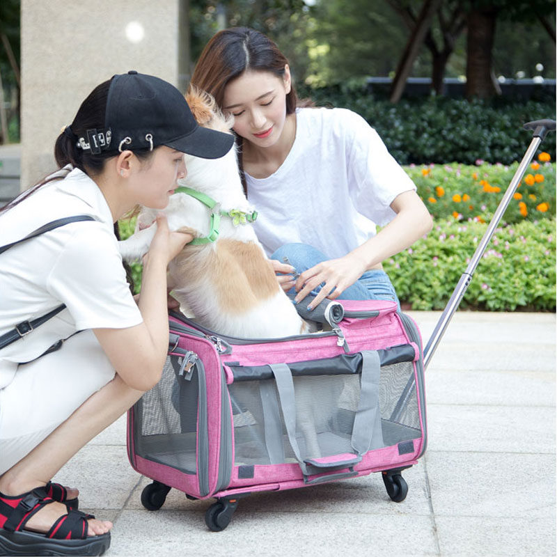 Perfect Pet Trolley Bag Rolling Carrier MFB38_16