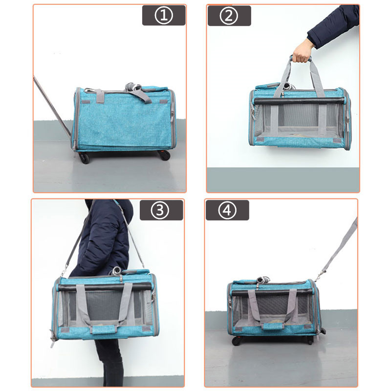 Perfect Pet Trolley Bag Rolling Carrier MFB38_17