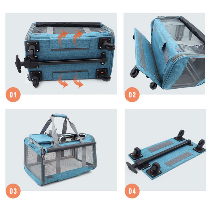 Perfect Pet Trolley Bag Rolling Carrier MFB38_18