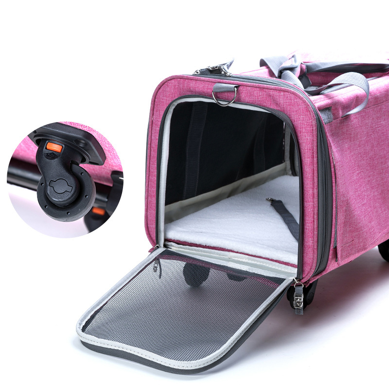 Perfect Pet Trolley Bag Rolling Carrier MFB38_20