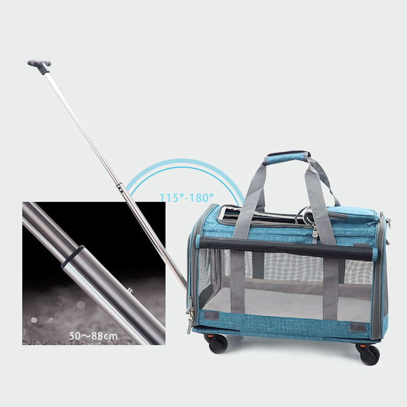 Perfect Pet Trolley Bag Rolling Carrier MFB38_9