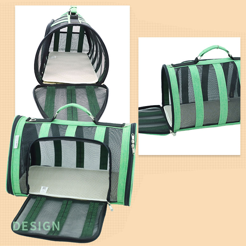 Breathable Grid Model Portable Pet Bag MFB42_10