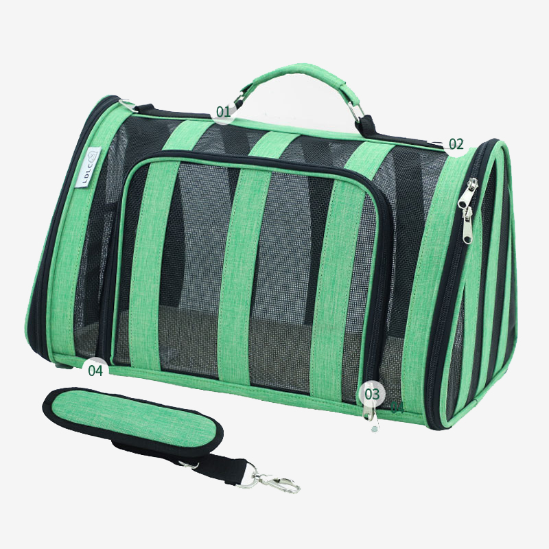 Breathable Grid Model Portable Pet Bag MFB42_11