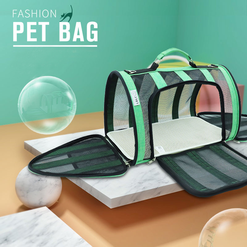 Breathable Grid Model Portable Pet Bag MFB42_6