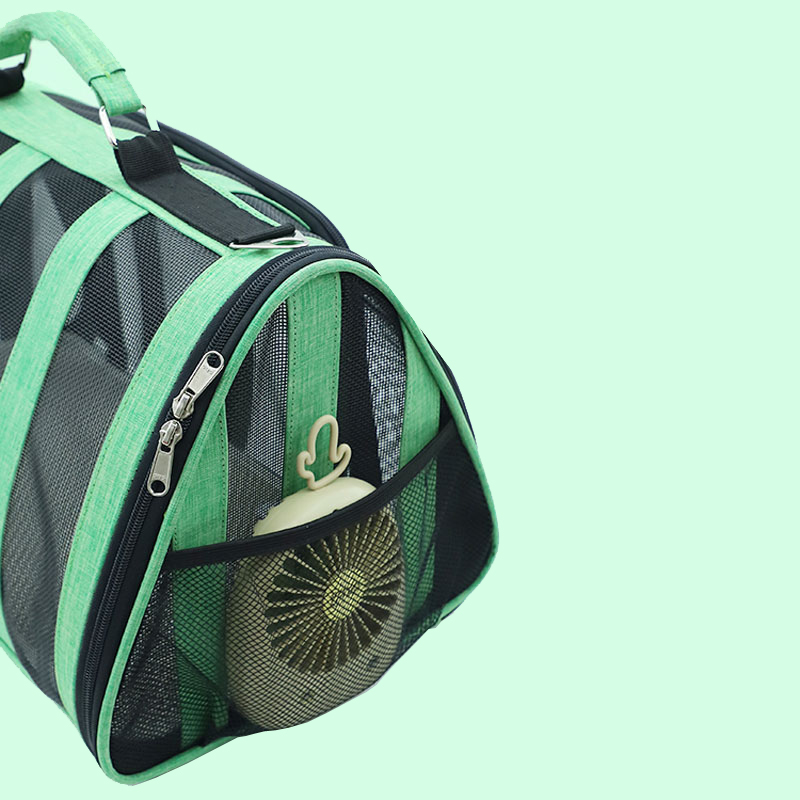 Breathable Grid Model Portable Pet Bag MFB42_8