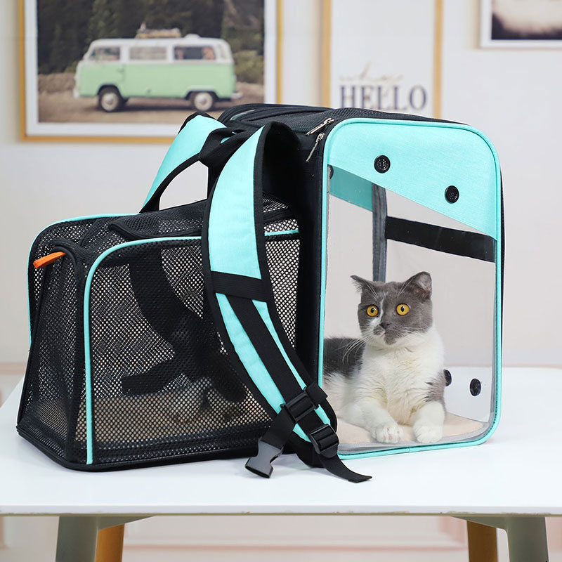 Breathable Dog Cat Backpack Pet Carrier With Extra Room MFB50_9