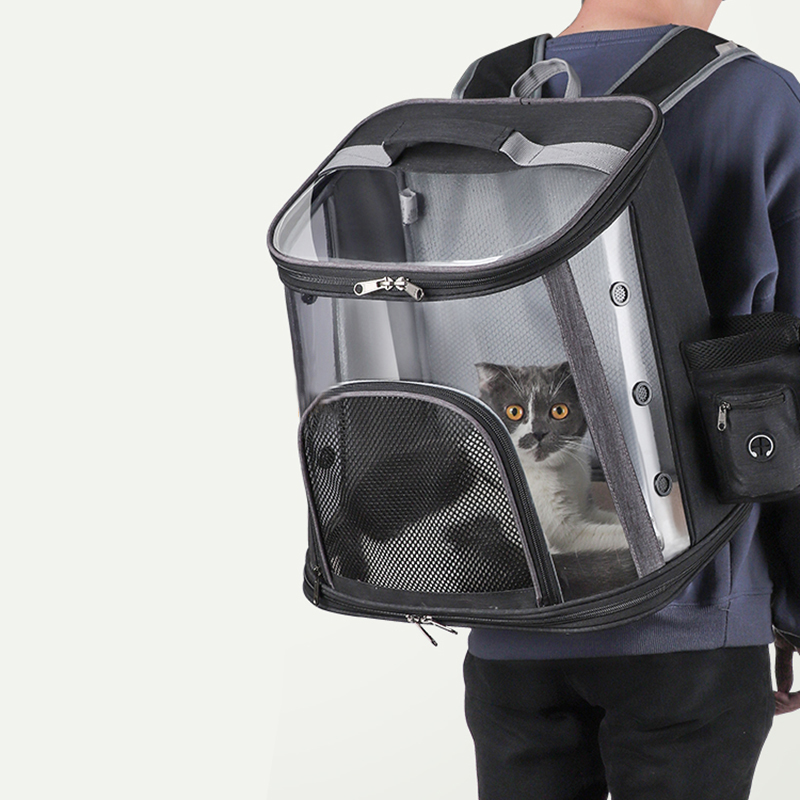Luxury Pet Transparent Airline Approved Backpack Carrier MFB55_7