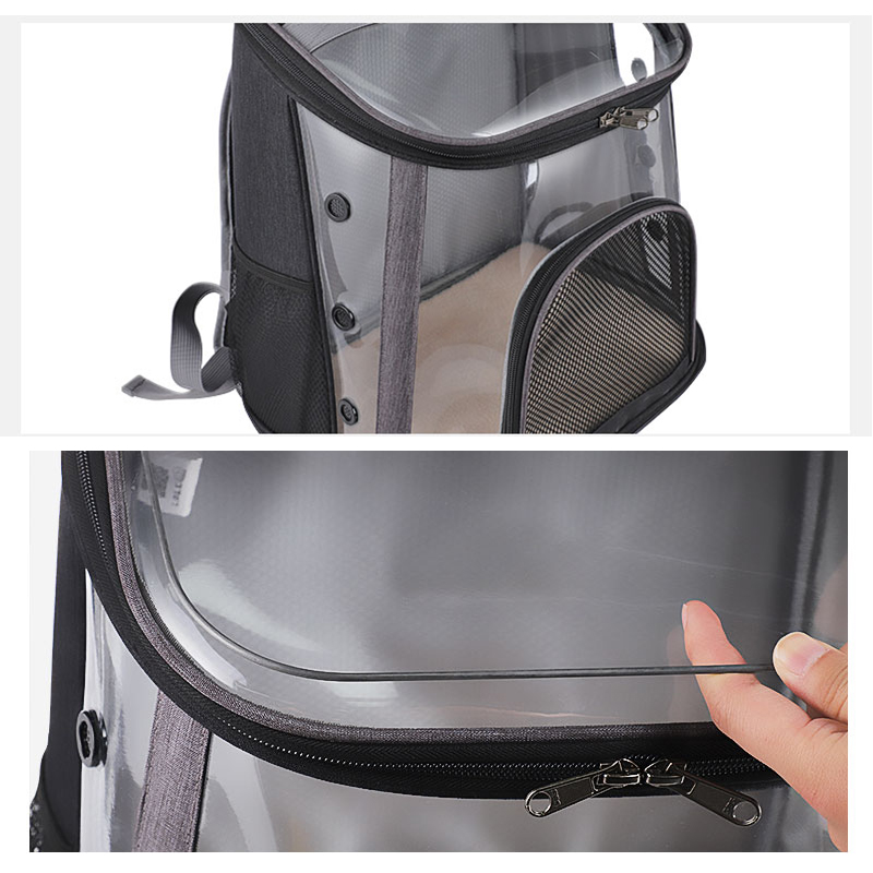 Luxury Pet Transparent Airline Approved Plus Size Backpack Carrier MFB56_12