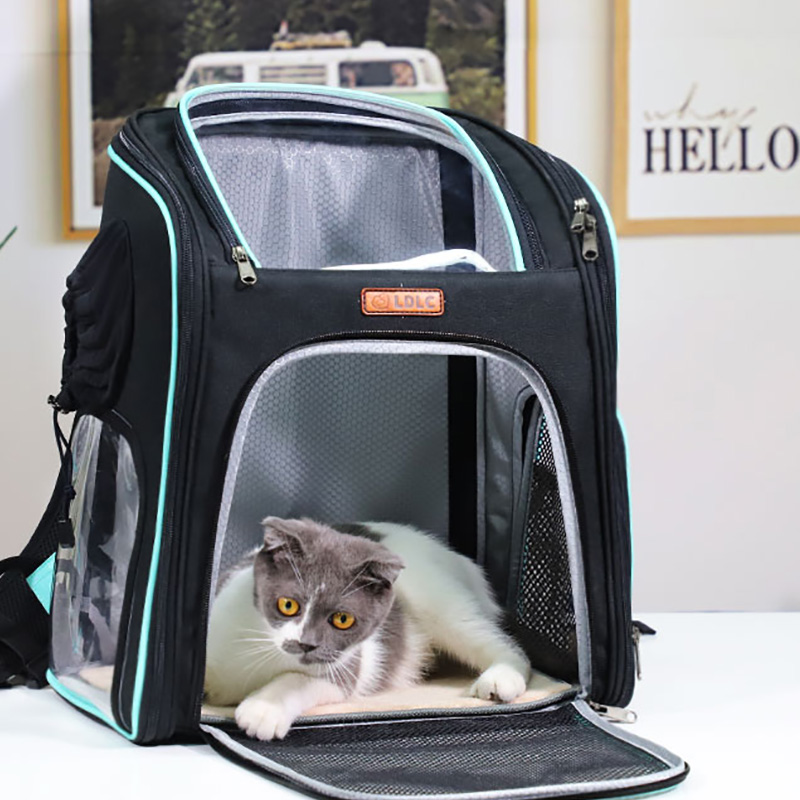 Cat Backpack Carrier With Side Hole That Can Touch Cat MFB58_9
