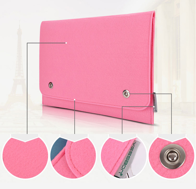2019 Pink Surface Book Pro 4 3 Leather Protective Bag Cover MSB01_8