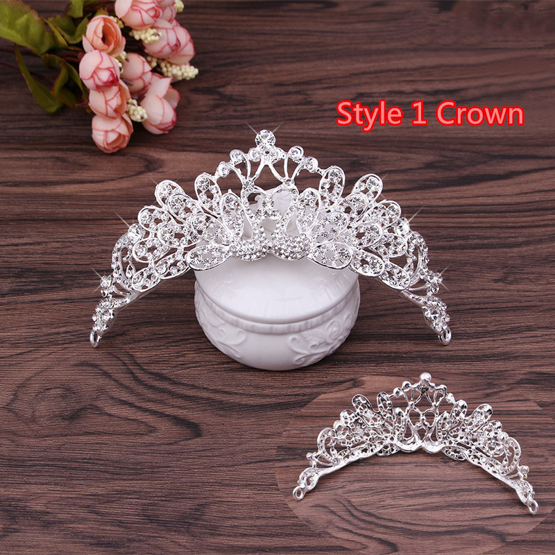 Perfect Necklace Earrings Crown Three Sets For Wedding Bride Jewelry NLC10_10