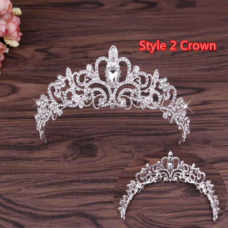 Perfect Necklace Earrings Crown Three Sets For Wedding Bride Jewelry NLC10_11