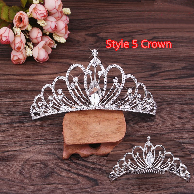 Perfect Necklace Earrings Crown Three Sets For Wedding Bride Jewelry NLC10_14