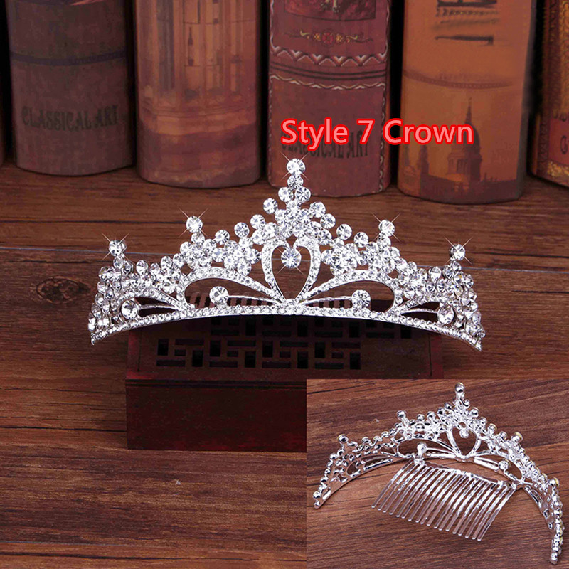 Perfect Necklace Earrings Crown Three Sets For Wedding Bride Jewelry NLC10_16