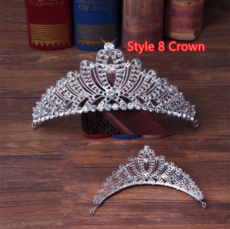 Perfect Necklace Earrings Crown Three Sets For Wedding Bride Jewelry NLC10_17