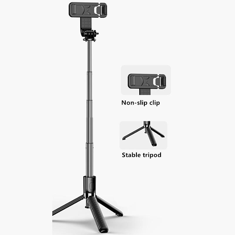 Alumium Alloy Selfie Stick For iPhone Phone Holder PHE01_10