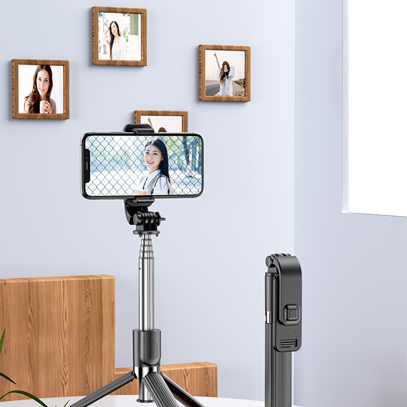 Alumium Alloy Selfie Stick For iPhone Phone Holder PHE01_11