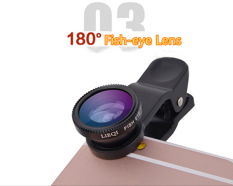 Best Universal Phone External Camera With Wide Macro Fisheye Lens PHE04_15