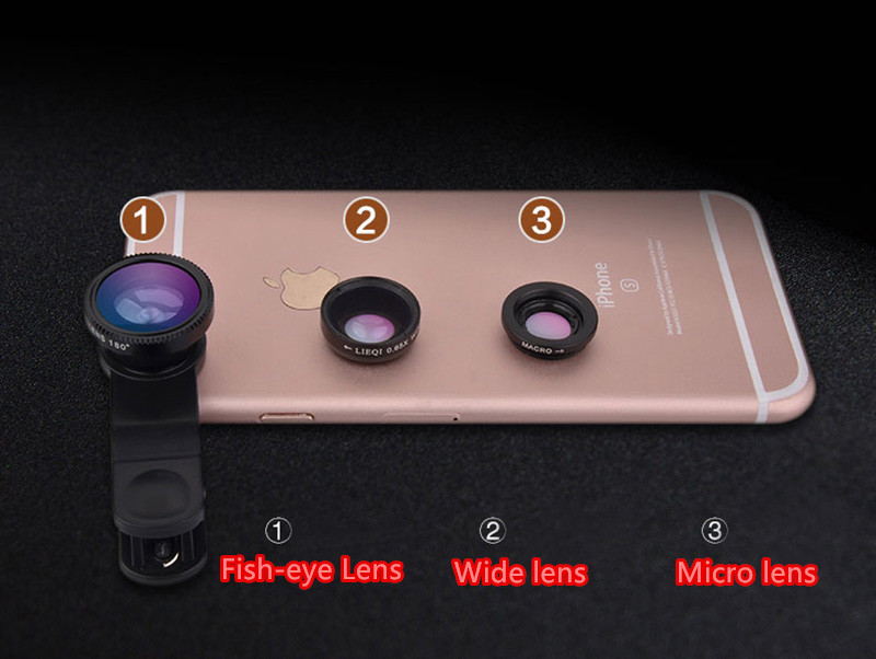 Best Universal Phone External Camera With Wide Macro Fisheye Lens PHE04_18