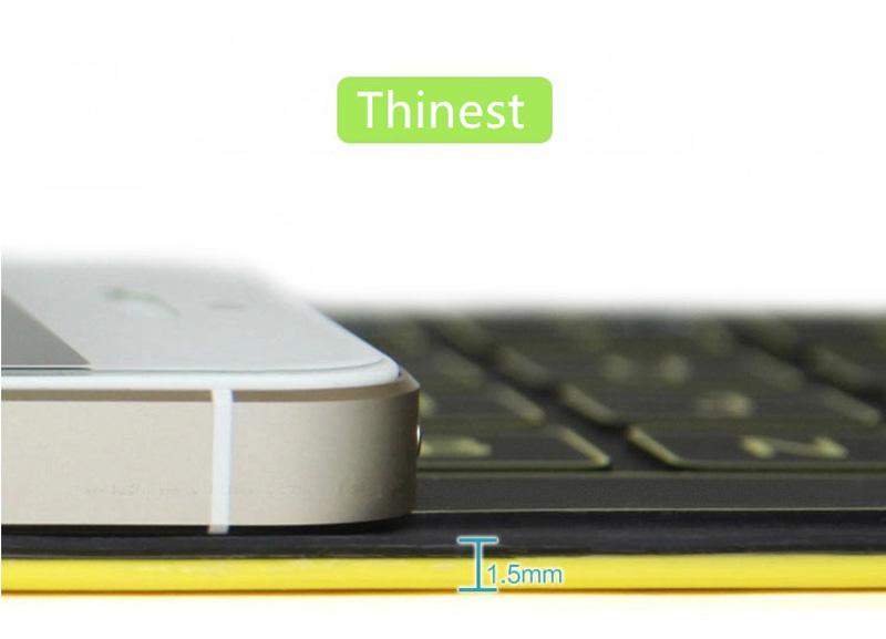 Black Thinest Foldable iPhone 6 Plus 6 iPad Surface Bluetooth Keyboard Case PKB01_8
