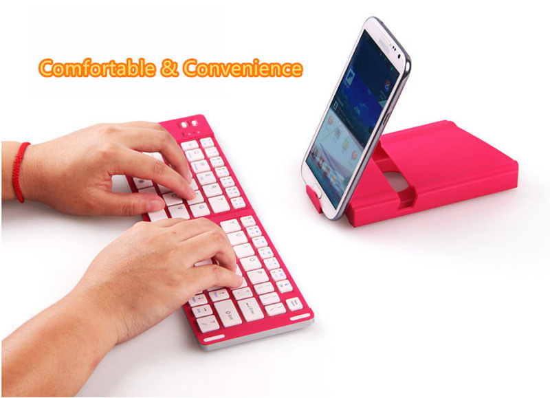 Best Aluminium Alloy Folding iPhone Samsung iPad Air Mini PC Notebook Bluetooth Keyboard PKB02_11
