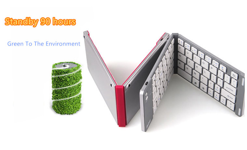Best Aluminium Alloy Folding iPhone Samsung iPad Air Mini PC Notebook Bluetooth Keyboard PKB02_12