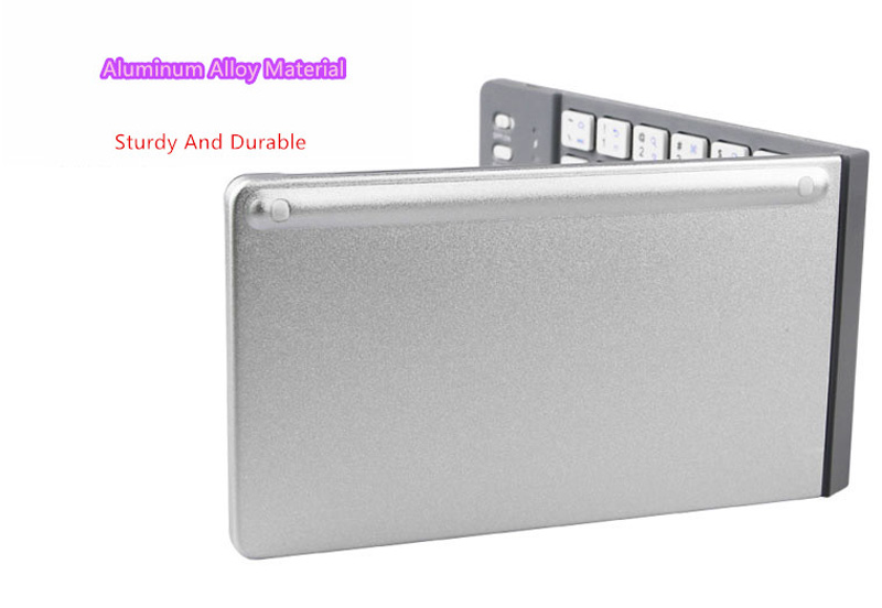 Best Aluminium Alloy Folding iPhone Samsung iPad Air Mini PC Notebook Bluetooth Keyboard PKB02_13
